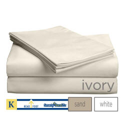 618TC Sateen Weave Cal King Bed Sheets